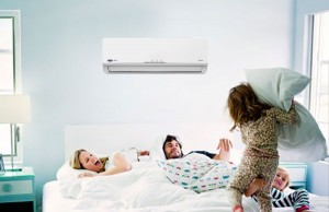 Ar-condicionado ligado à noite